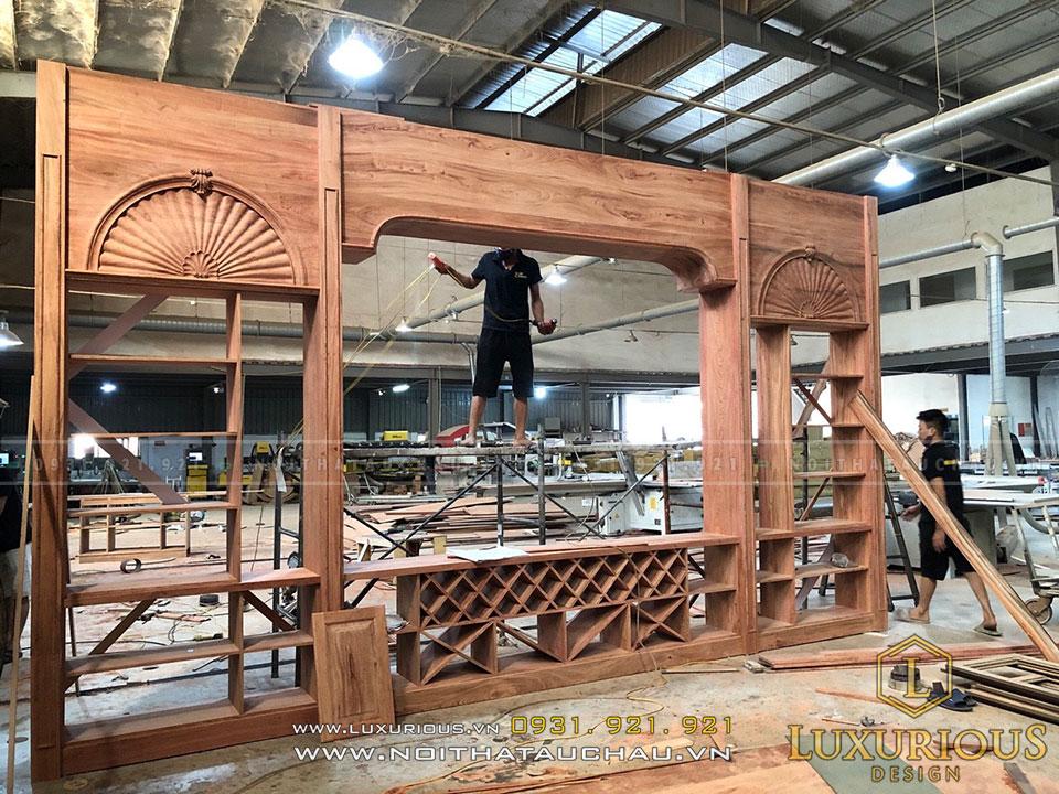 Thi công đồ gỗ nội thất công trình khách sạn