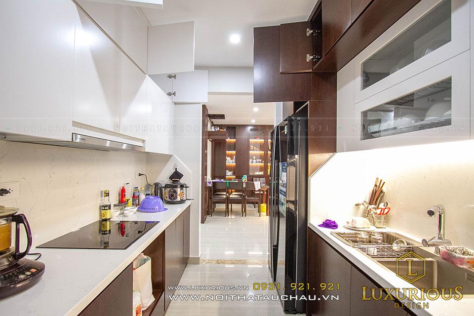 Thi công nội thất chung cư phòng bếp