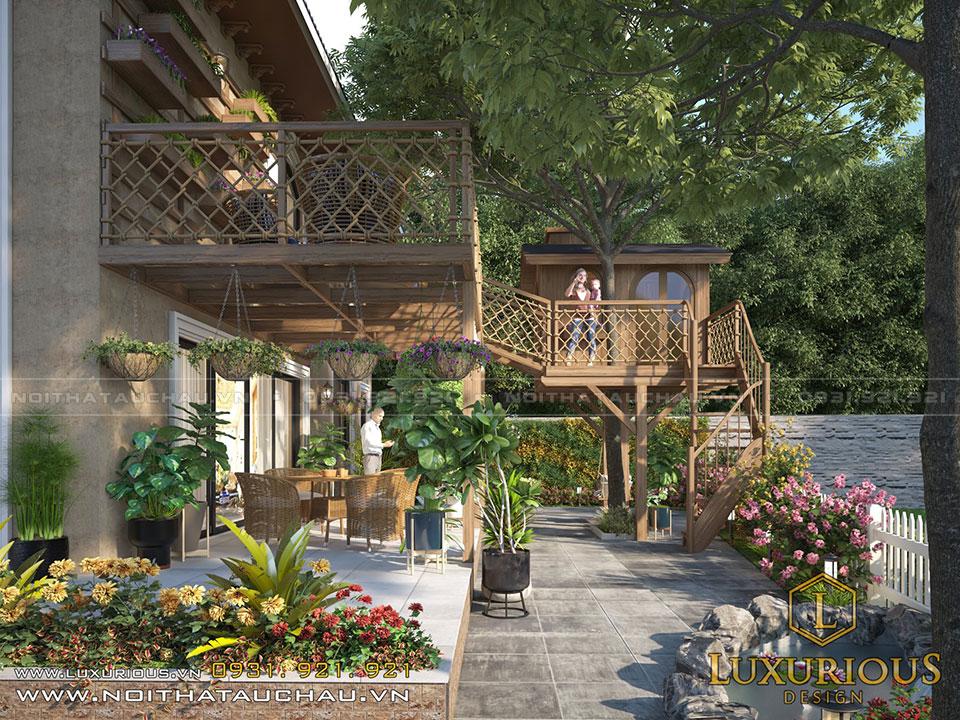 Thiết kế nhà gỗ trên cây biệt thự Ecopark