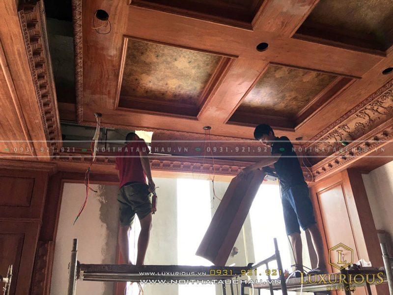 Thợ thi công nội thất tại công trình