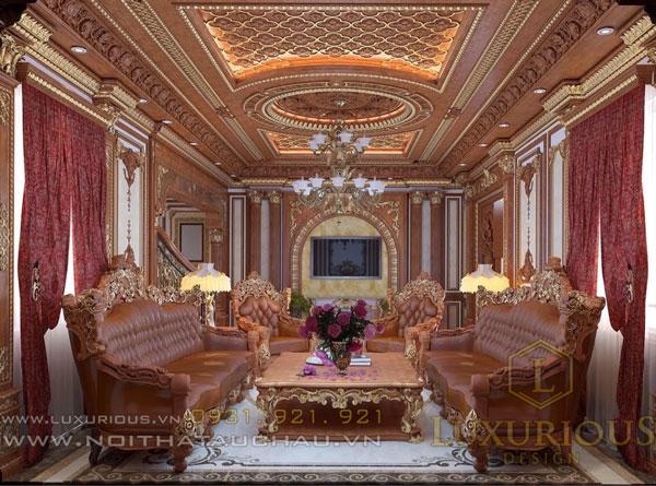 Biệt thự cổ điển với phòng khách