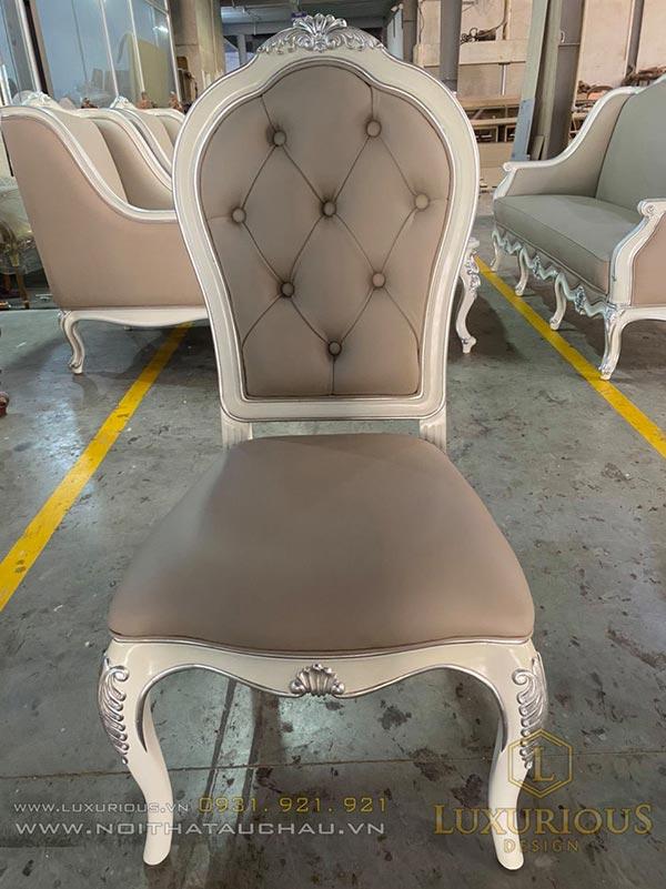 Nhà máy sản xuất nội thất ghế tân cổ điển theo yêu cầu