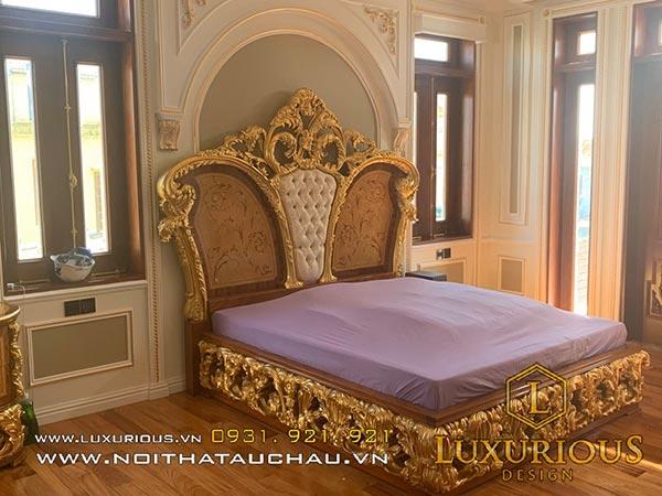 Thiết kế nội thất phòng ngủ tân cổ điển Châu Âu