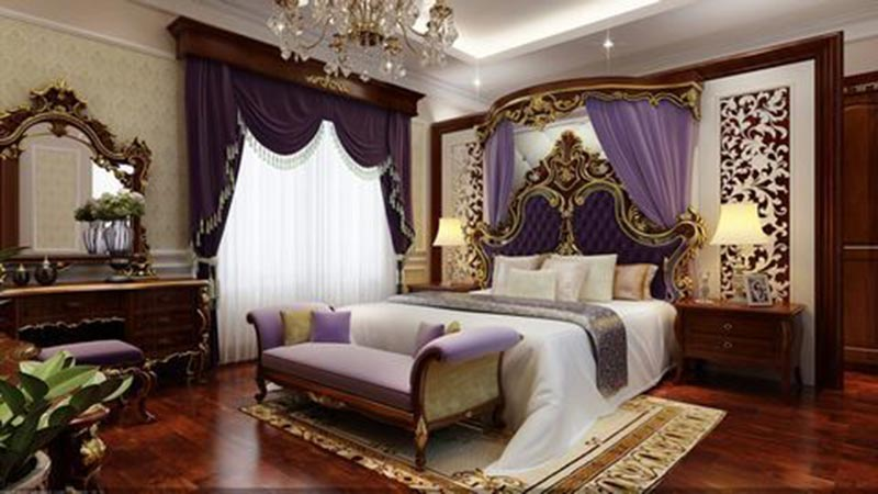 Các mẫu thiết kế phòng ngủ tân cổ điển có đặc thù riêng, không chạy theo xu hướng