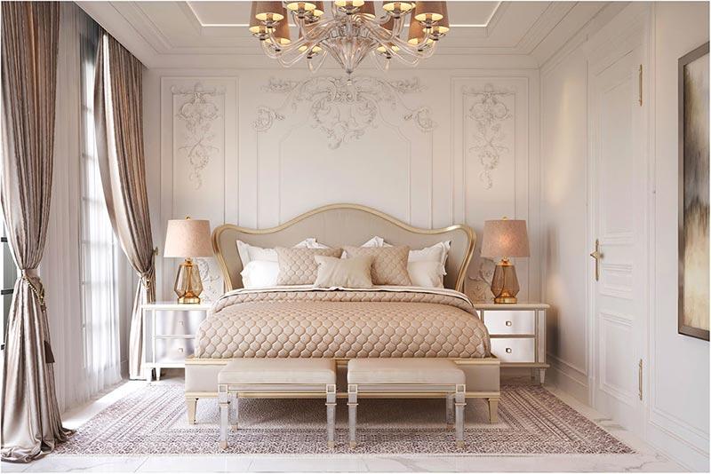công ty tư vấn, thiết kế và thi công nội thất phòng ngủ tân cổ điển đáng tin cậy