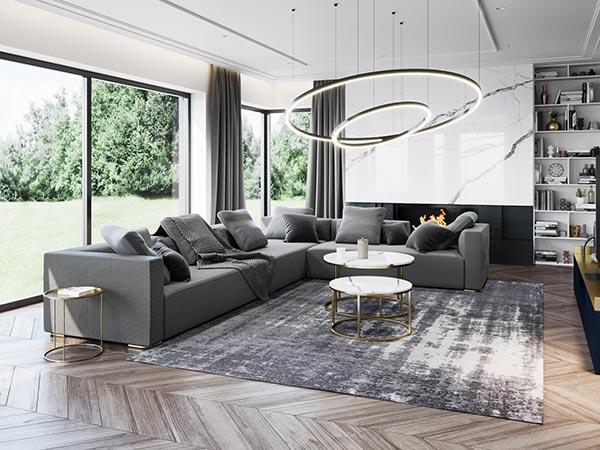Mẫu thiết kế nội thất phòng khách biệt thự hiện đại