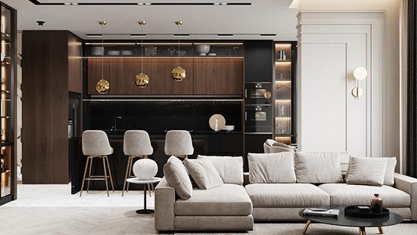 Mẫu thiết kế nội thất biệt thự hiện đại song lập