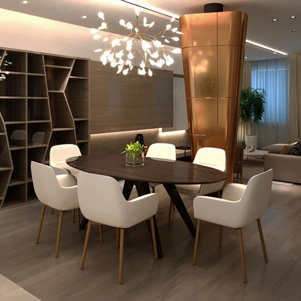 Mẫu thiết kế nội thất phòng ăn biệt thự ấm cúng và thư giãn