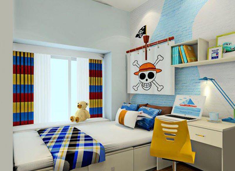 Phòng ngủ cho bé trai mang đâm chất cá tính riêng