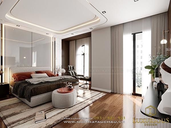 Mẫu thiết kế phòng ngủ hiện đại nhà biệt thự cao cấp