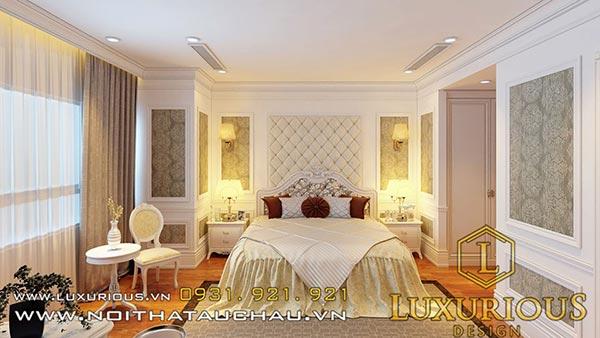 Phòng ngủ thiết kế ấn tượng màu sắc hài hòa
