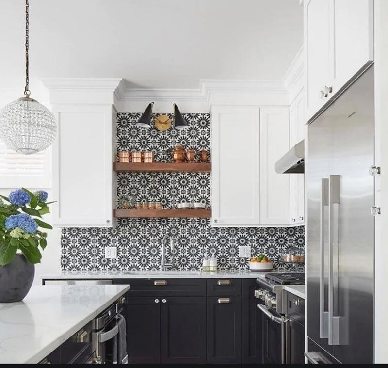 Không gian bếp theo phong cách Pop Art đầy màu sắc rực rỡ và tươi sáng
