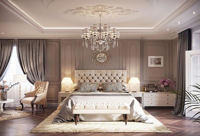 Mẫu thiết kế phòng ngủ theo phong cách Hoàng Gia luôn khiến người trầm trồ thán phục