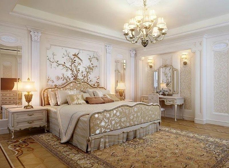 Phòng ngủ đẹp sang trọng, xa hoa, lộng lẫy đầy mãng mạn