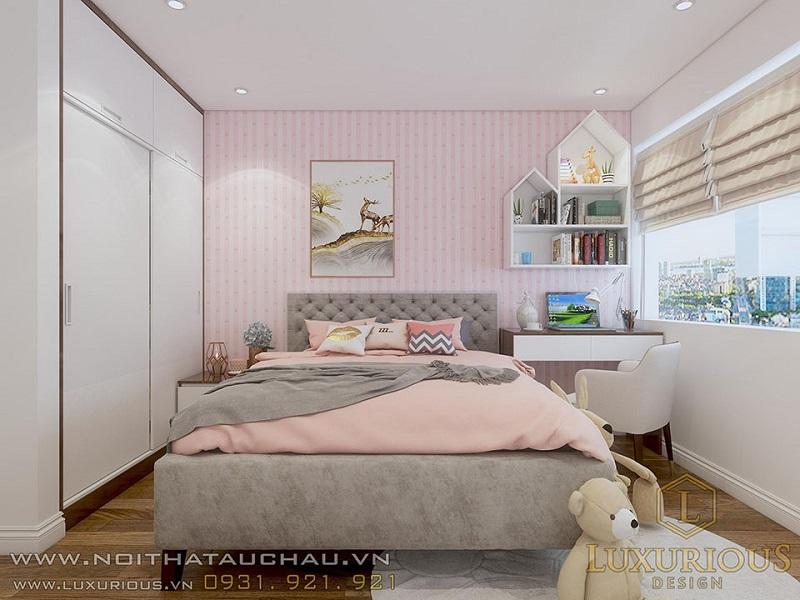 Thiết kế thi công phòng ngủ cho bé gái
