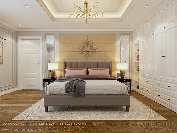 Thiết kế Phòng ngủ Master chung cư tân cổ điển