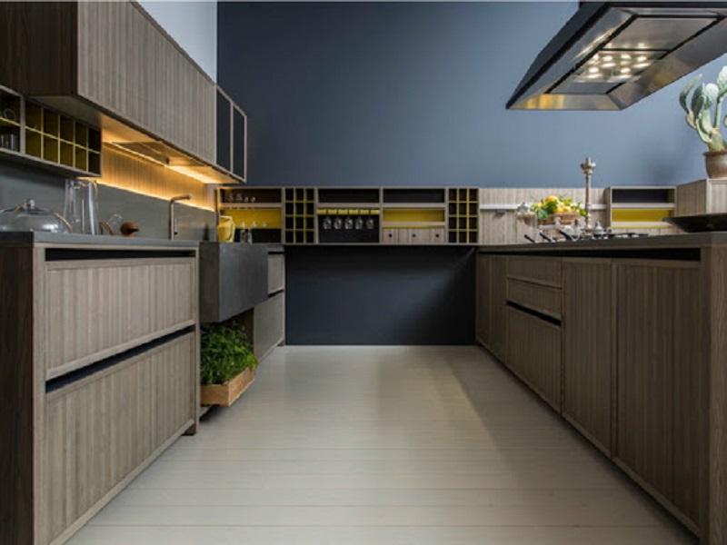 Bố trí tủ bếp kiểu chữ U là sự lựa chọn tuyệt vời cho phòng bếp lớn