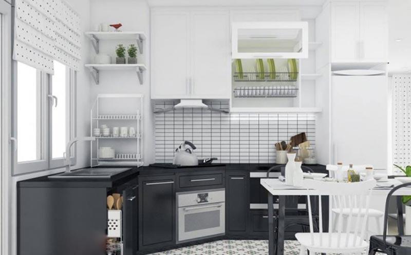 Phòng bếp chung cư hiện đại yêu ngay từ cái nhìn đầu tiên