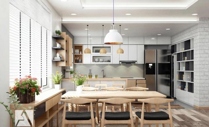 Những mẫu thiết kế nội thất phòng bếp chung cư cao cấp