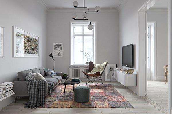 Mẫu thiết kế nội thất chung cư Bắc Âu