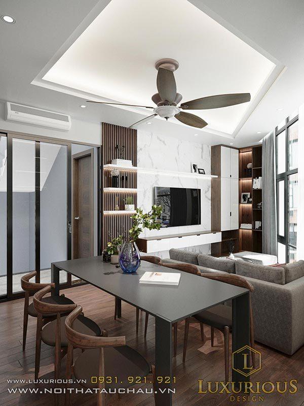 thiết kế nội thất phòng khách shophouse