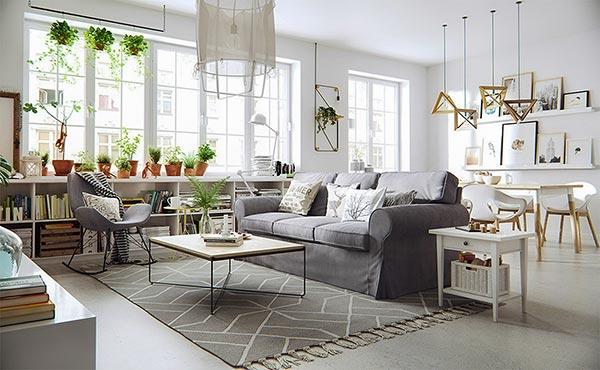 Kết hợp màu sắc đậm của đồ nội thất càng làm nổi bật không gian phòng khách
