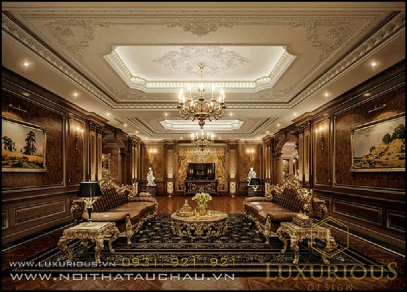 Khám phá vẻ đẹp của mẫu phòng khách cổ điển