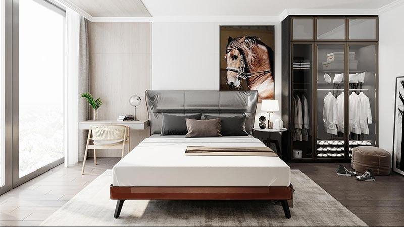 Mẫu thiết kế nội thất phòng ngủ chung cư phong cách đương đại