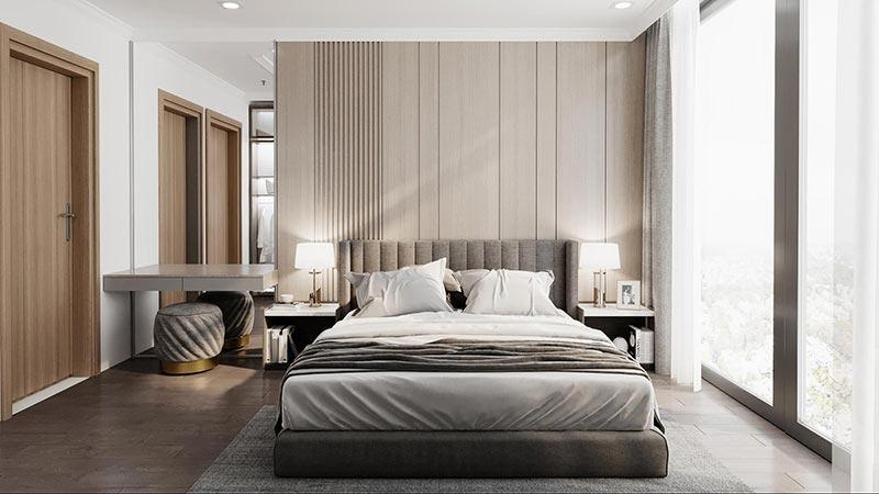 Trang trí nội thất đương đại phòng ngủ biệt thự
