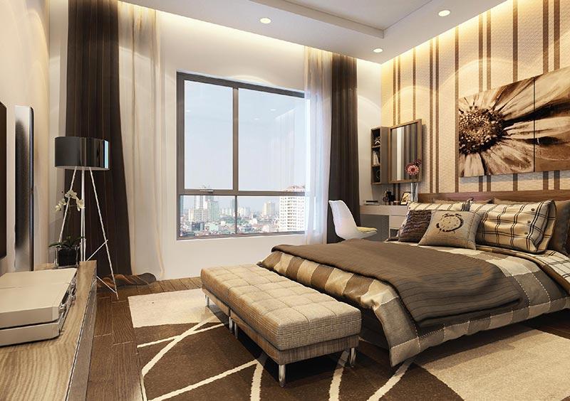 Phòng ngủ chung cư cao cấp theo phong cách đương đại