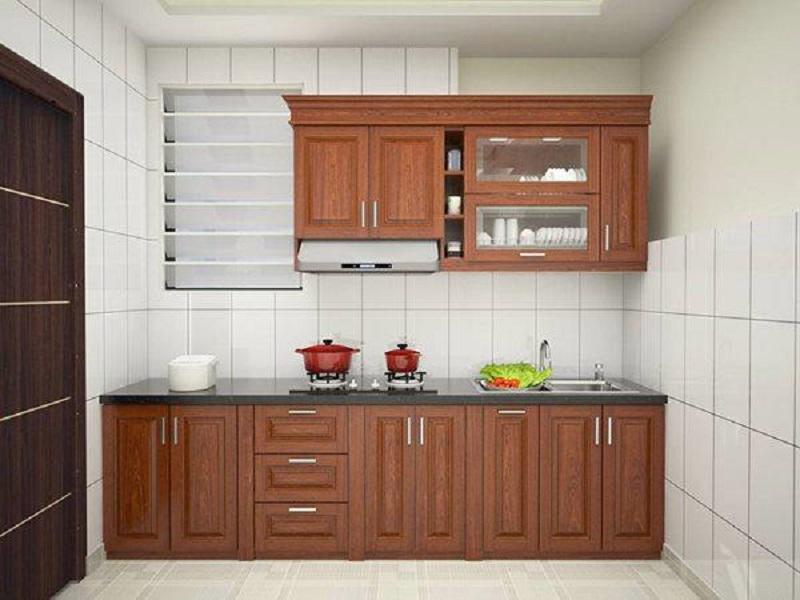 Thiết kế bếp với hệ tủ chữ I