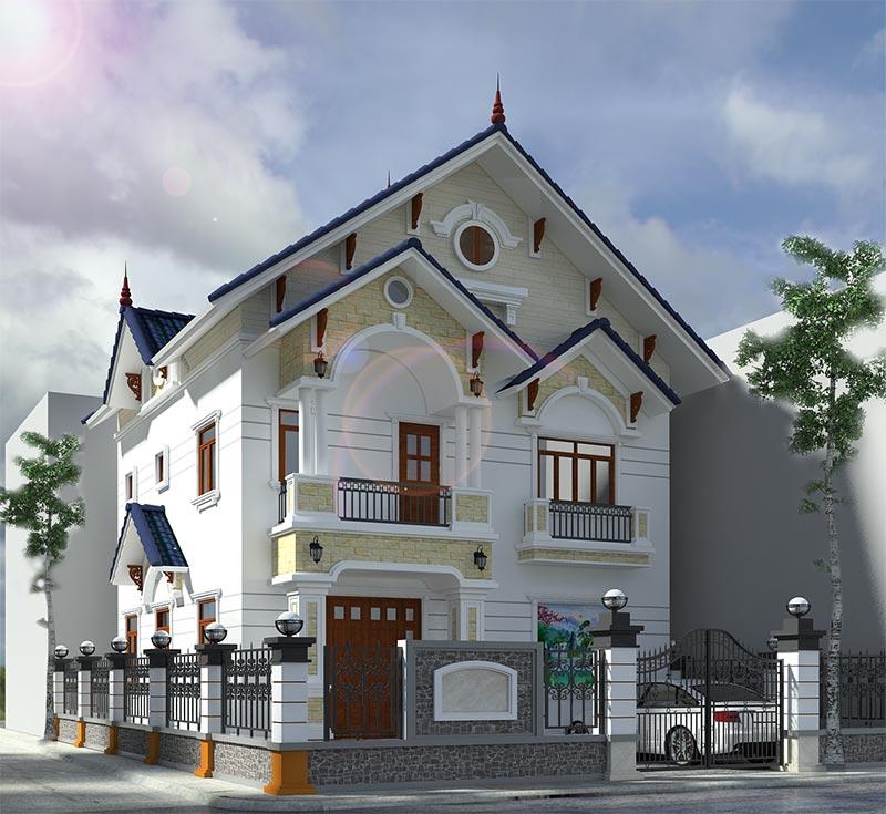 Mẫu kiến trúc biệt thự hiện đại Châu Âu sang trọng