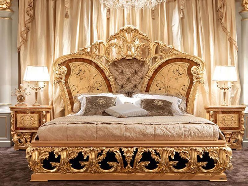 Giường ngủ tân cổ điển Châu Âu đậm chất Hoàng Gia