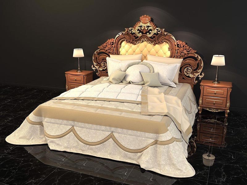 Giường ngủ cổ điển phong cách hoàng gia quý tộc