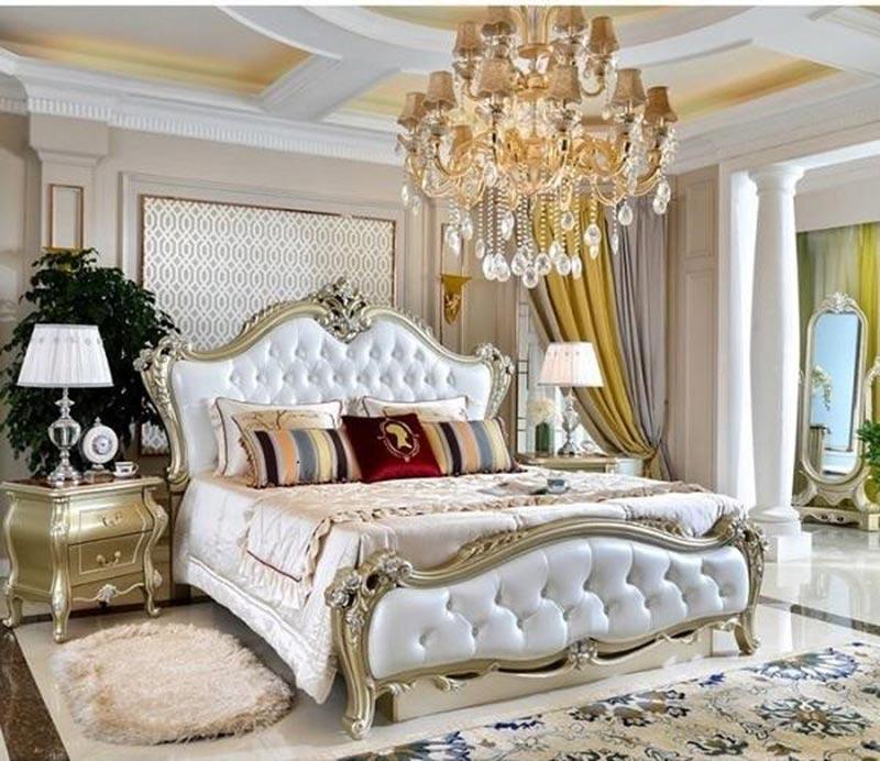 Thiết kế giường ngủ đậm phong cách Châu Âu