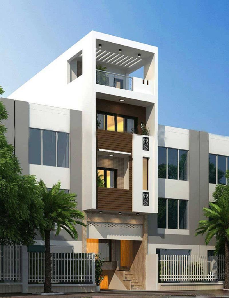 Kiến trúc nhà 3 tầng hiện đại 120m2