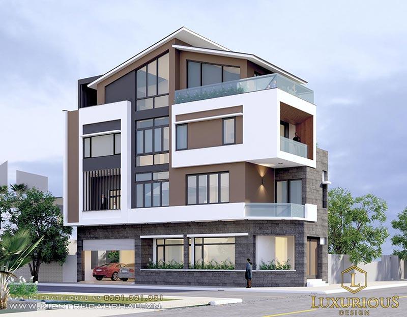 Kiến trúc nhà phố hiện đại 4 tầng tại Nam Định