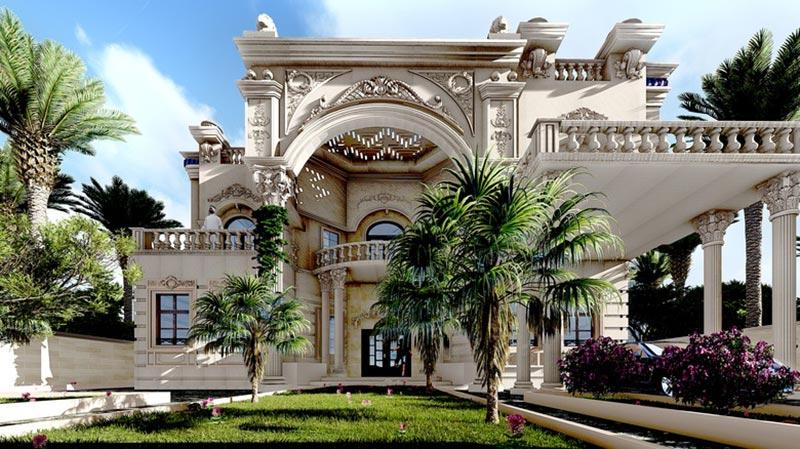 Lâu đài được thiết kế theo phong cách cổ điển