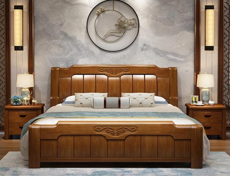 Mẫu giường thiết kế nhẹ nhàng đơn giản