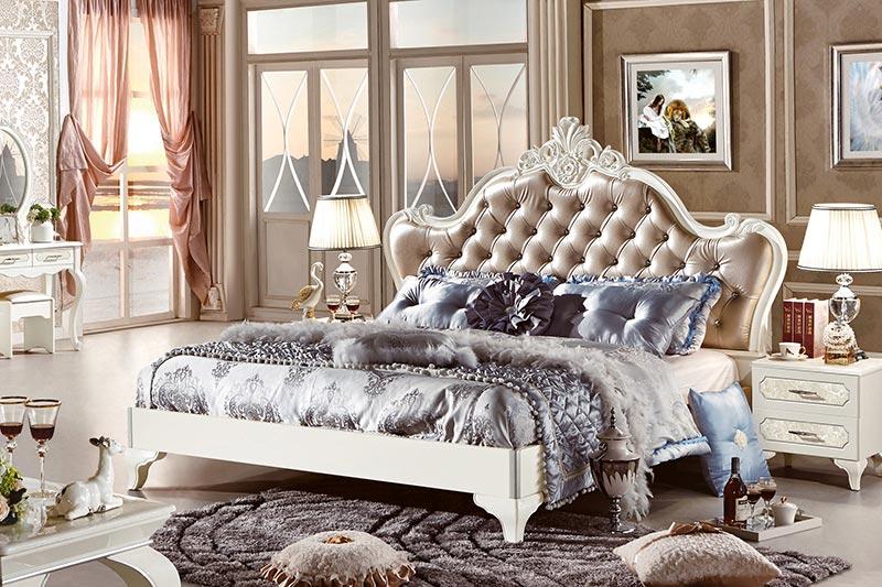 Giường ngủ gỗ tự nhiên cao cấp sang trọng