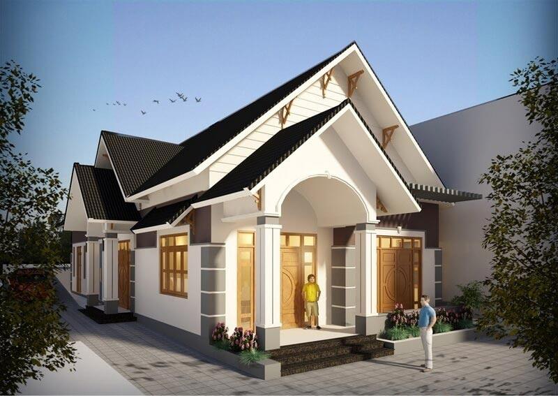 Mẫu thiết kế nhà cấp 4 mái thái phong cách hiện đại