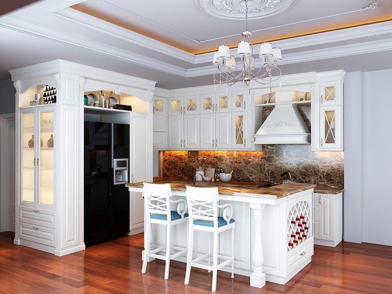 Đặc trưng nổi bật của tủ bếp tân cổ điển Luxurious Design