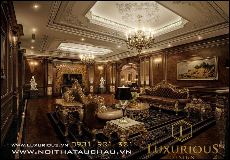 Phong cách thiết kế nội thất phòng khách cổ điển Việt Nam