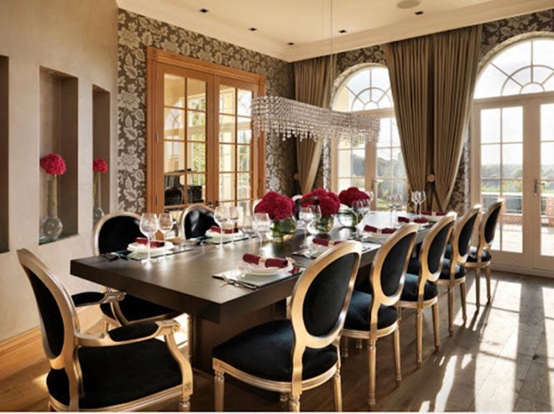Phòng ăn sang trọng lịch lãm theo phong cách cổ điển Ý