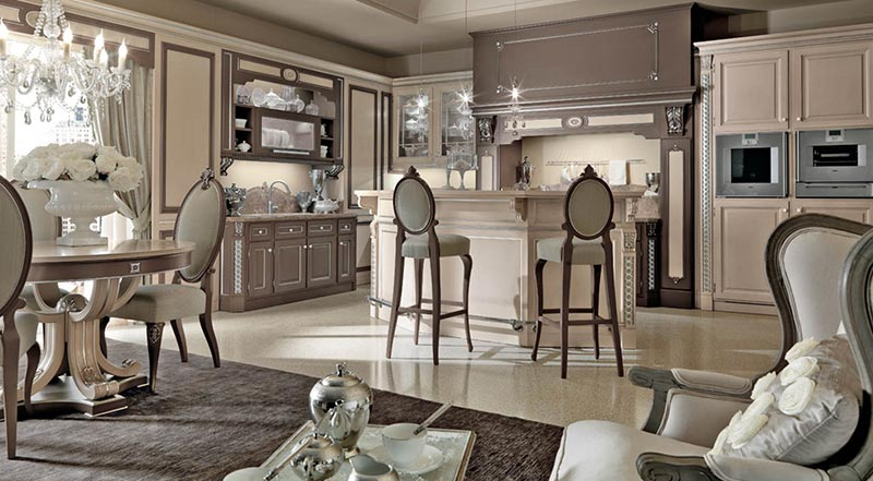Phòng bếp phong cách Ý cổ điển