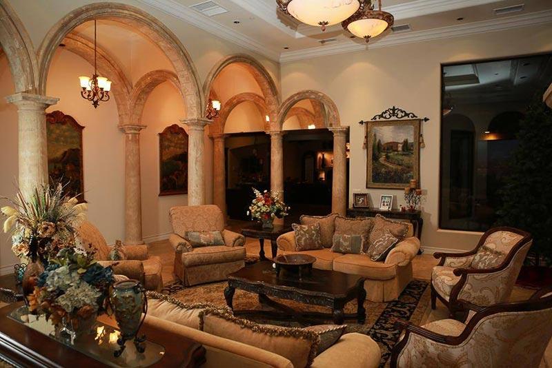 Thiết kế nội thất cổ điển Pháp không gian phòng khách