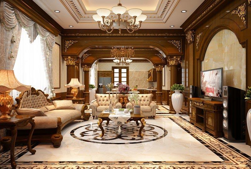 Thiết kế nội thất phong cách cô điển pháp của Biệt Thự