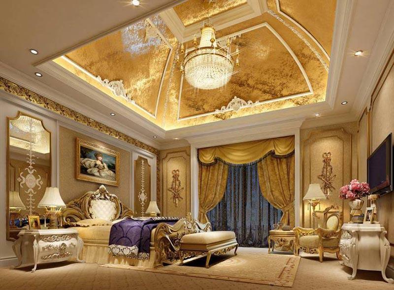 Phòng ngủ biệt thự cổ điển tại Vĩnh Phúc