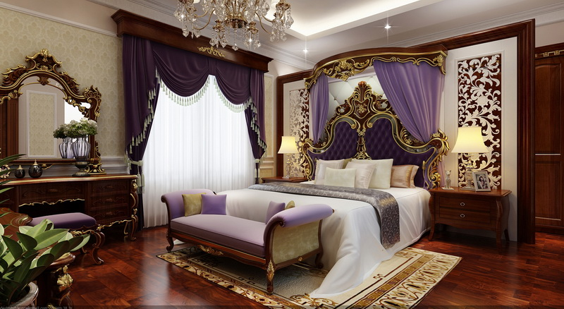 Tư vấn thiết kế nội thất cổ điển Pháp phòng ngủ