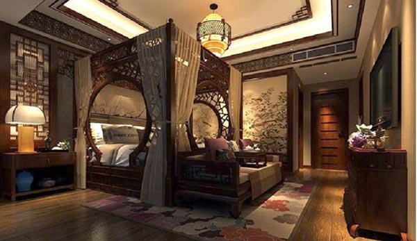 Mẫu thiết kế nội thất phòng ngủ cổ trang Trung Quốc